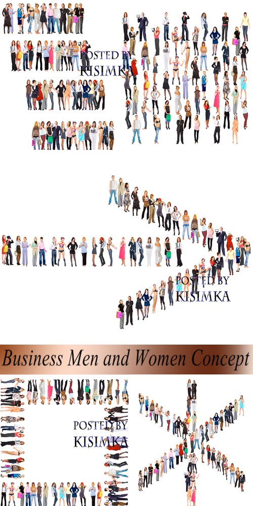 Stock Photo: Business Men and Women Concept