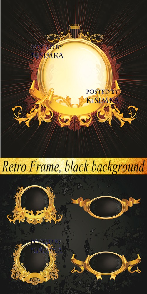 Stock: Retro Frame, black background
