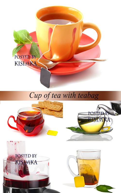 Stock Photo: Cup of tea with teabag