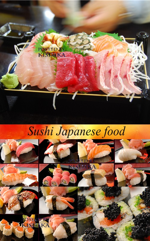 Stock Photo: Sushi. Japanese food