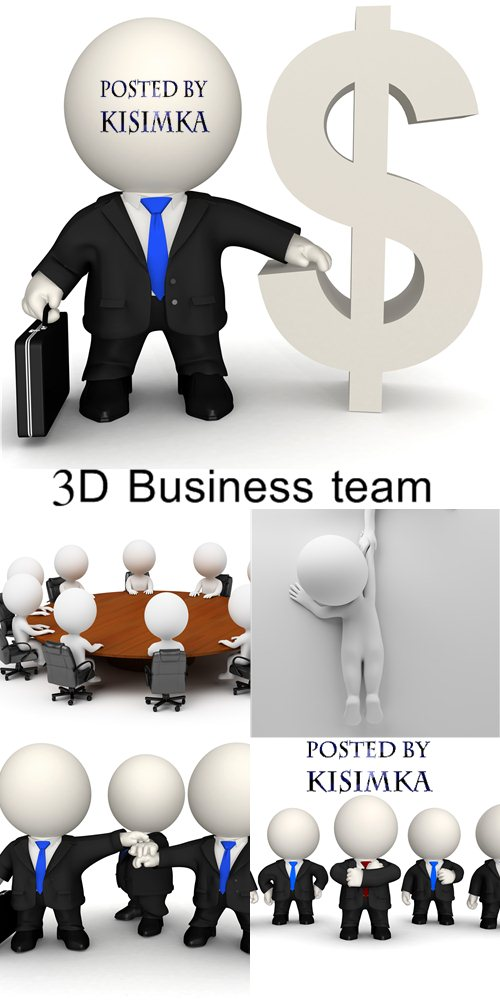 Stock Photo: 3D Business team