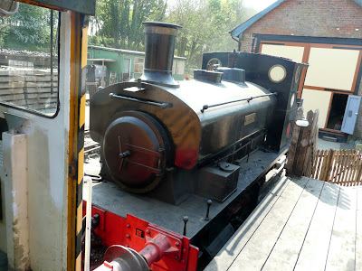 Steam engine at Whitwell Station