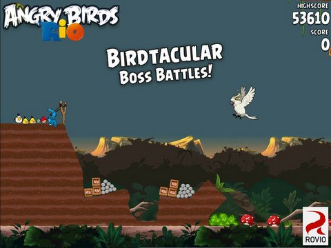 Angry Birds Rio Screen Shot