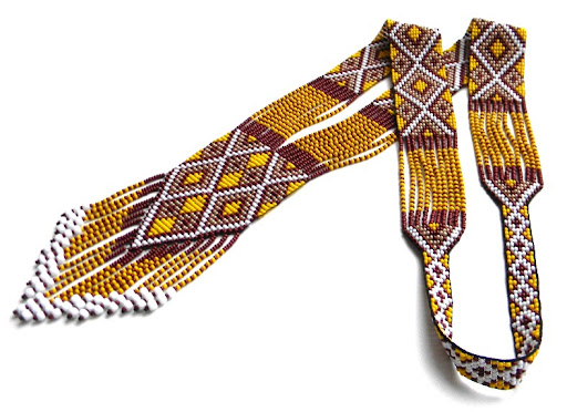 split loom necklace beaded jewelry beadwork beadweaving