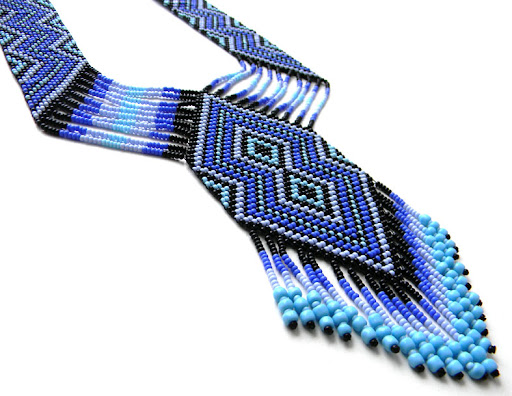 split loom necklace beadwork beaded jewelry gerdan
