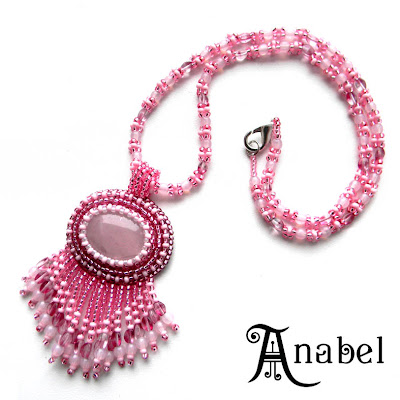 купить кулон с розовым кварцем Anabel украина