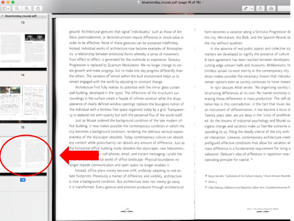 Select a thumbnail to choose where your additional PDF will be added