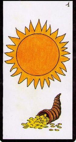 """""""Un jour, une carte"""" = cartes du jour : Le Soleil (Oracle de Gé) GE1"""