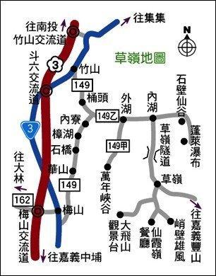 草嶺樟湖石壁地圖