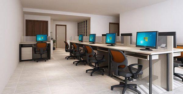 Mẫu thiết kế văn phòng công ty nhỏ gọn 40m2 sang trọng