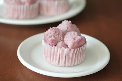 Purple Sweet Potato Muffin on a plate