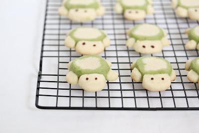 photo of Turtle Sugar Cookies on a baking rack