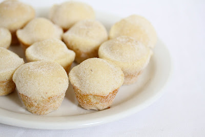 photo of Cinnamon Sugar Donut Muffins on a plate