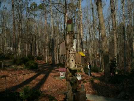 birdhouses on a post