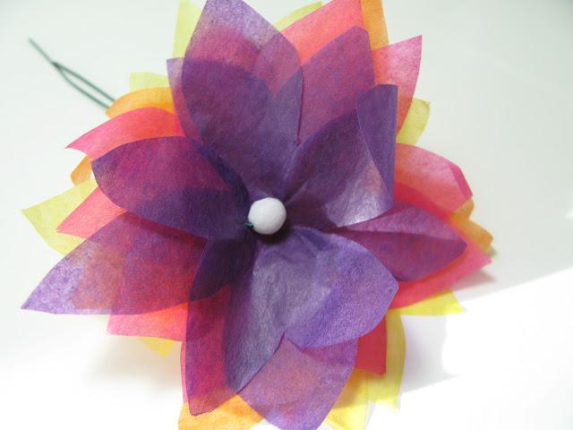 Tissue paper flower headband akbaeenw tissue paper flower headband mightylinksfo