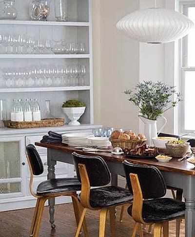 En mi espacio vital muebles recuperados y decoraci n for Comedor vintage blanco