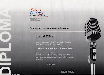 Diploma Isabel Oliver
