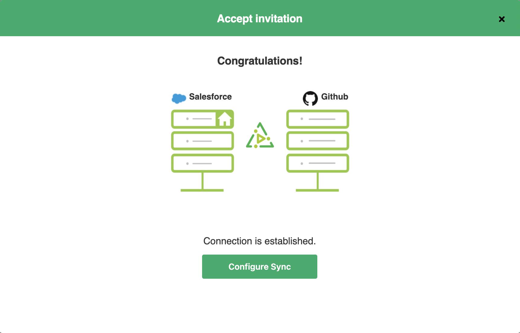 configure GitHub salesforce sync