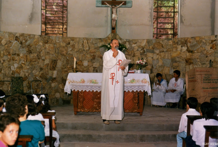 Padre Vincenzo Tonetto celebra la Santa Messa a Piracicaba