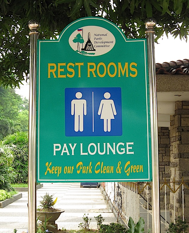 pay restroom at the Rizal Park