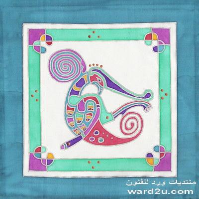 تصاميم جديده للرسم على الحرير