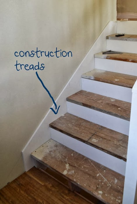 I Have To Admit Didn T The Reclaimed Wood Stair Treads We Ve Been Using Durning Consturction Phase But They Aren Mom S Favorite