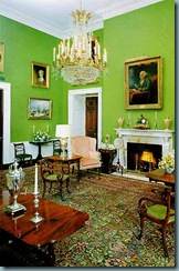 Sala verde da casa branca.