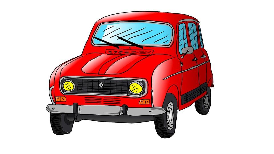 Free photo Car R4 Drawing Illustration Renault Auto - Max Pixel