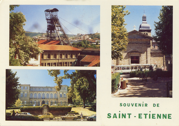 Cartes Postales Pop et Kitsch des années 50, 70 et 70 - Pop and kitsch vintage postcards from the fifties, the sixties and the seventies : Paysages miniers