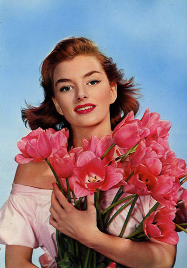 Cartes Postales Pop et Kitsch des années 50, 70 et 70 - Pop and kitsch vintage postcards from the fifties, the sixties and the seventies : Dites le avec des fleurs