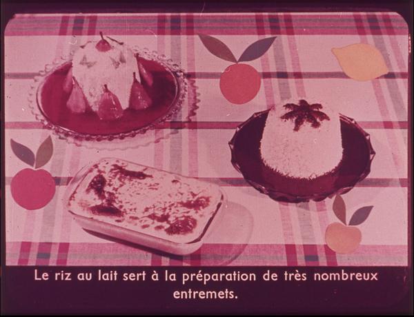 Films fixes et publicités de quartier (educational filmstrips) sur www.filmfix.fr : Les trois méthodes de cuisson du riz