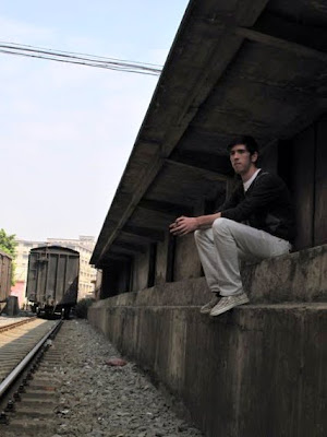 Me at the train yard