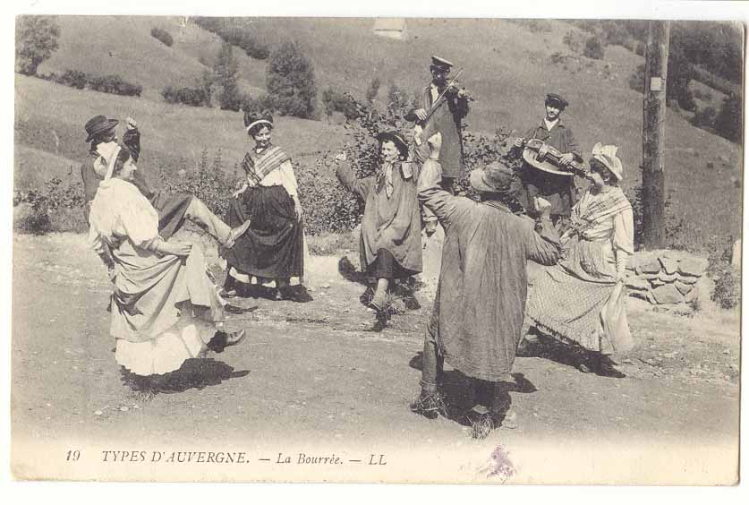 Traditional dancing in France à la Vintage Postcards