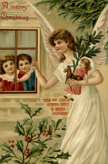 Vintage Postcard Angel