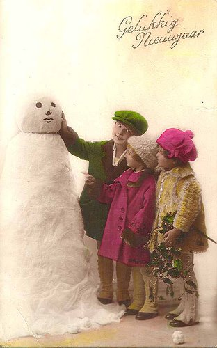 Snowman Vintage Postcard Obsession