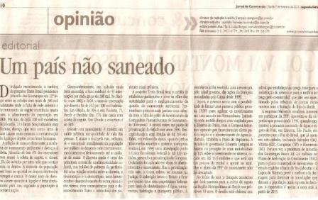 EDITORIAL JORNAL DO COMMERCIO SANEAMENTO EM JABOATÃO