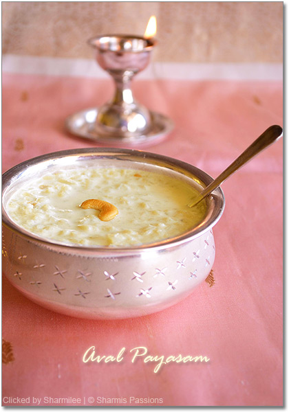 Aval Payasam / Rice Flakes Payasam