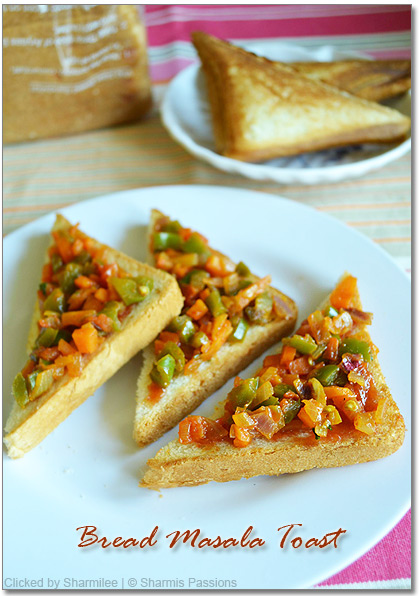 Bread Masala Toast Recipe