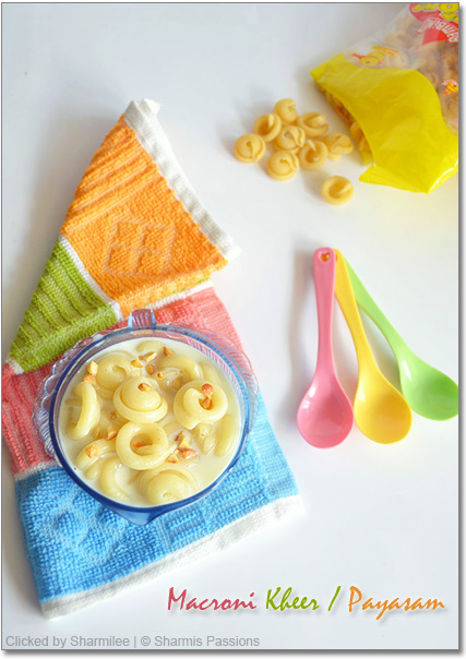 Macroni Kheer / Pasta Payasam Recipe