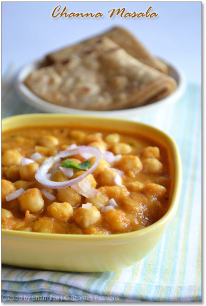 Channa / Chole Masala Recipe