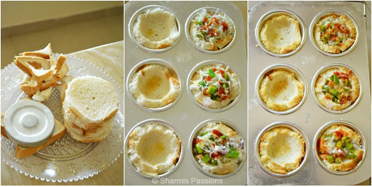 Bread Cup Pizza Recipe