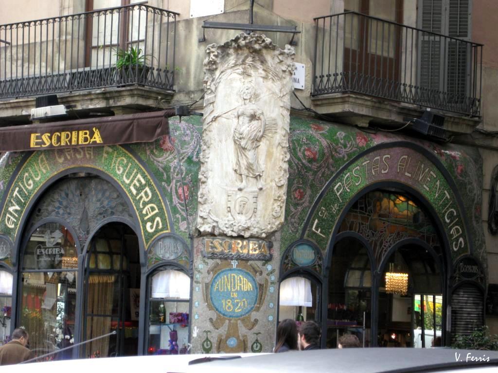 les rambles petxinas barcelona jaume figueras encarg en la decoracin de su tienda de fabricacin y venta de pastas