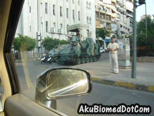 Pos kawalan tentera di jalanraya Beirut