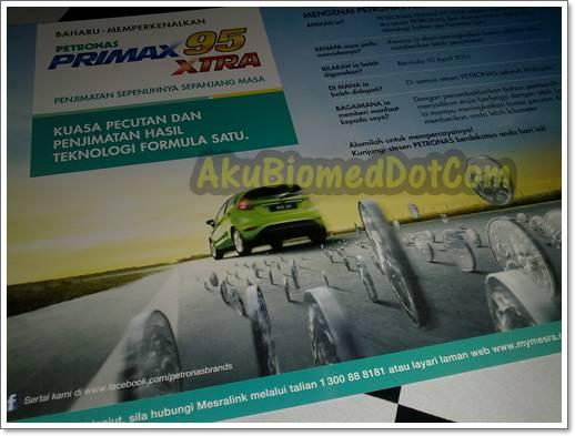 Risalah Petronas Primax95 Xtra