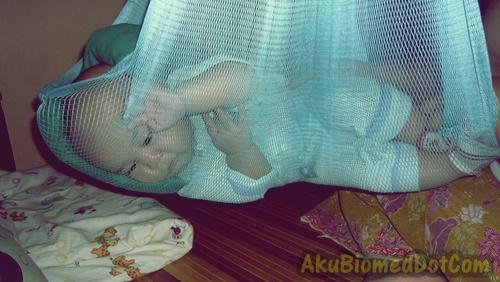 Baby Aslah tidur didalam buaian