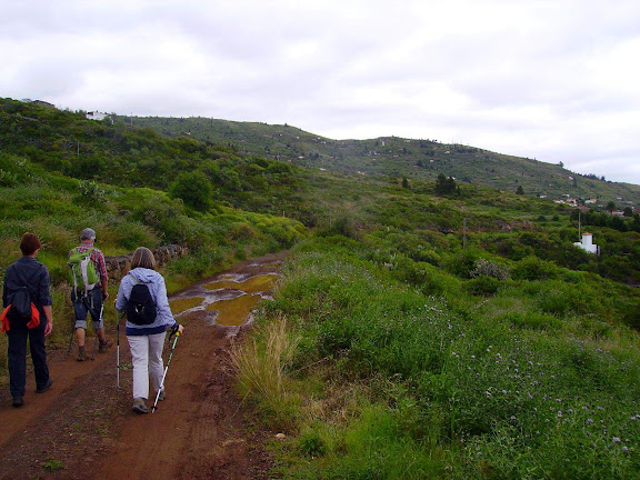 Wanderer kurz vor La Punta,La Palma,Kanaren