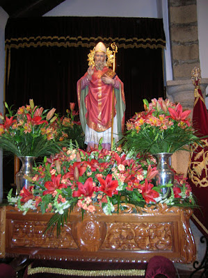 Foto de San Gregorio en el interior de su ermita. Foto cedida por Pozoblanco News, las noticias y la actualidad de Pozoblanco (Córdoba)* www.pozoblanconews.blogspot.com