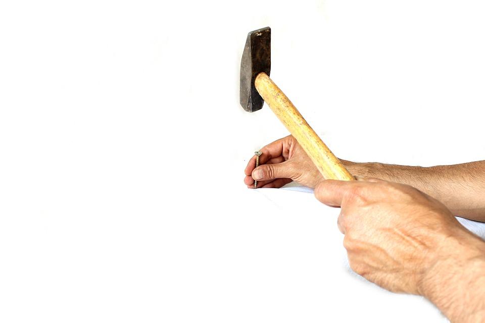 Hammer, Employee, White, Stone ...