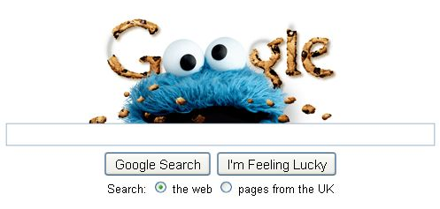 Cookie Monster Google Logo