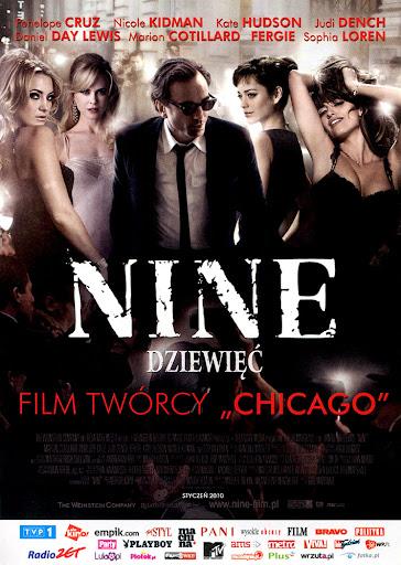 Przód ulotki filmu 'Nine - Dziewięć'